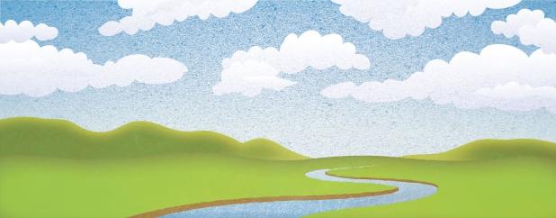 summer plain - illustration