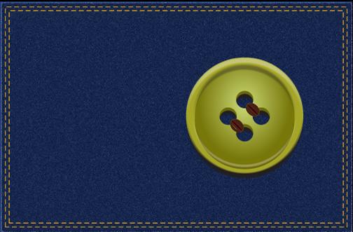 button on denim