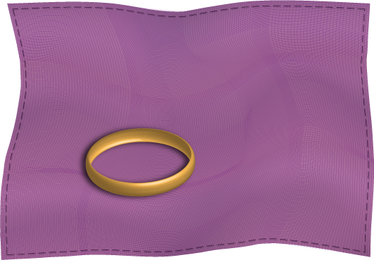 ring on a piece of cloth